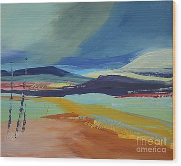 Abstract Landscape No.1 Wood Print