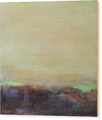 Abstract Landscape - Rose Hills Wood Print
