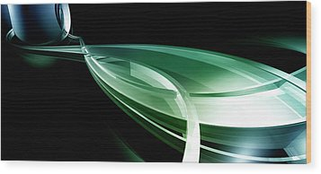 Abstract Lines, Leaf Shape Wood Print by Ralf Hiemisch