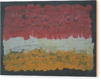 Abstract Number 6 Wood Print by James Johnson
