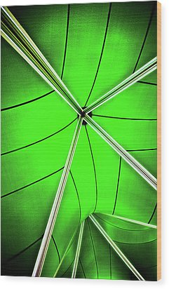 Abstract Of Green Wood Print by Meirion Matthias