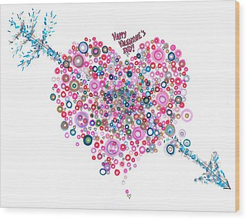 Abstract Pattern Valentine Wood Print by Regina Valluzzi