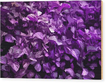 Wood Print featuring the digital art Abstract Purple by Serene Maisey