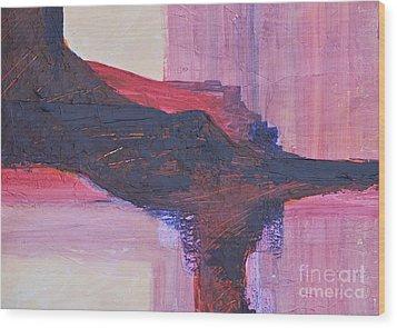 Abstract Ruins Wood Print