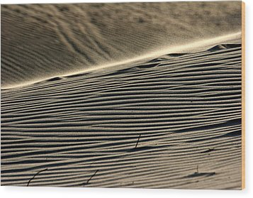 Abstract Sand 2 Wood Print by Arie Arik Chen