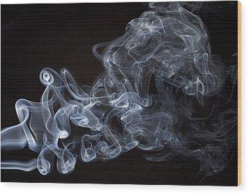 Abstract Smoke Running Horse Wood Print by Setsiri Silapasuwanchai