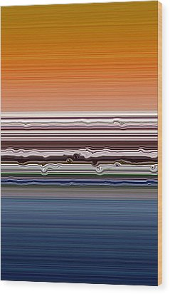 Abstract Sunset Wood Print by Michelle Calkins