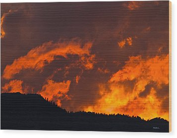Abstract Sunset Wood Print by Mitch Shindelbower