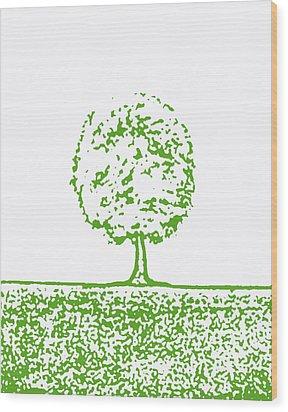 Abstract Tree By Shawna Erback Wood Print by Shawna Erback