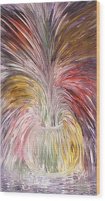 Abstract Vase And Energy Mouvement Wood Print by Georgeta  Blanaru