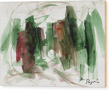 Abstract Watercolor 51 Wood Print by Chriss Pagani