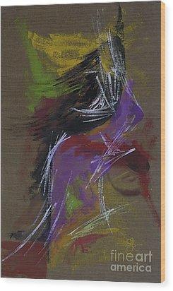 Abstract Woman Wood Print by Vilas Malankar