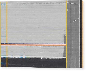 Abstract Yellow Wood Print by Naxart Studio