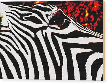 Abstract Zebra 001 Wood Print by Lon Casler Bixby