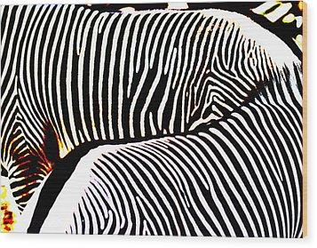 Abstract Zebra 002 Wood Print by Lon Casler Bixby