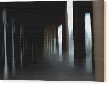 Wood Print featuring the mixed media Abyss by Terence Morrissey