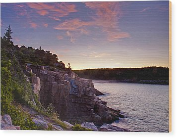 Acadian Sunrise Wood Print by Jim Neumann