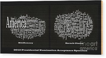 Acceptance Speeches Wood Print by David Bearden