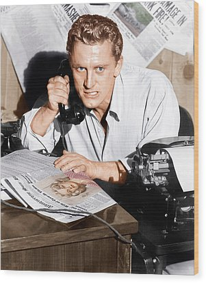 Ace In The Hole, Kirk Douglas, 1951 Wood Print by Everett