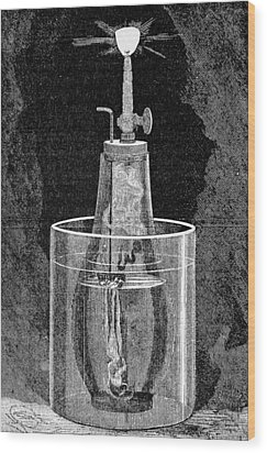 Acetylene Lamp, Artwork Wood Print by