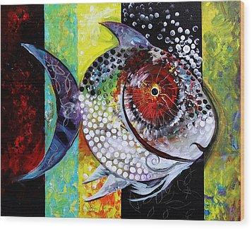 Acidfish 70 Wood Print by J Vincent Scarpace