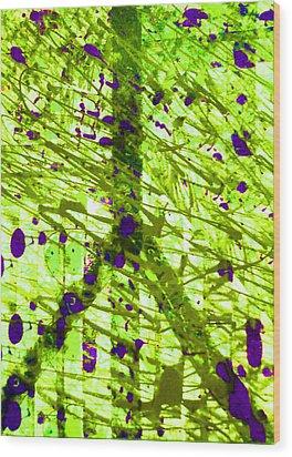 Acidic Peace Wood Print by Robert Haigh
