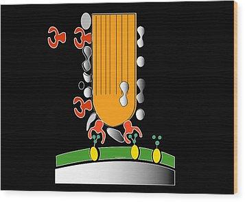 Acrosome Reaction, Artwork Wood Print by Francis Leroy, Biocosmos