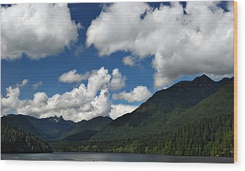 Across Capilano Lake Wood Print