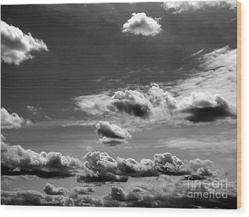 Across Sky Wood Print by Yury Bashkin