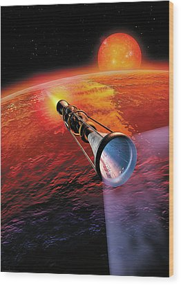 Across The Sea Of Suns Wood Print by Don Dixon