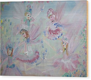 Act  Two Fairies Wood Print by Judith Desrosiers