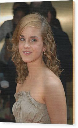 Actress Emma Watson, Who Plays Hermione Wood Print by Everett
