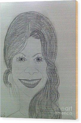 Actress Zoe S. Wood Print by Charita Padilla