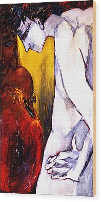 Adam And Eve Wood Print by Eszter Gyory