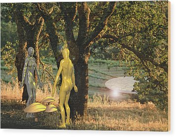 Adam And Eve Wood Print