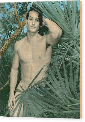 Adam In Paradise 2 Wood Print by Jean-claude Poulin