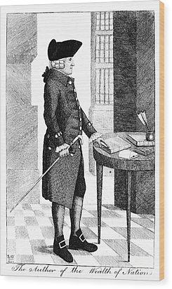 Adam Smith, Scottish Philosopher & Wood Print by Photo Researchers