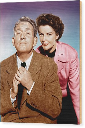 Adams Rib, From Left Spencer Tracy Wood Print by Everett