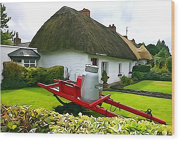 Wood Print featuring the photograph Adare Cottage by Charlie and Norma Brock