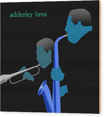 Adderley Brothers Wood Print by Victor Bailey