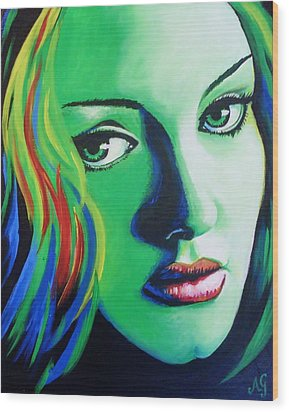 Adele - Rumour Wood Print