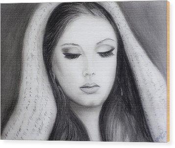 Adele Wood Print by Gina Cordova