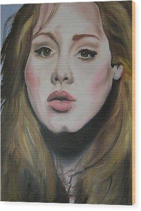 Adele Wood Print by Matt Burke