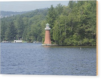 Wood Print featuring the photograph Adirondack Lighthouse by Ann Murphy