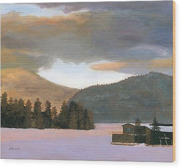 Adirondack Morning Wood Print