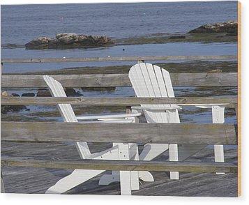 Adirondack Relaxin' Wood Print