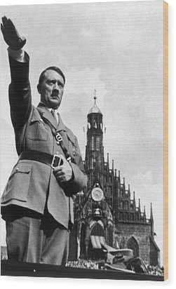 Adolf Hitler At Reichsparteitag, 1934 Wood Print by Everett
