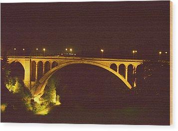 Adolphe Bridge  Wood Print by Dennis Lundell