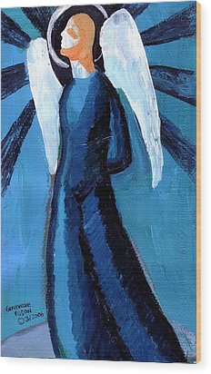 Adrongenous Angel Wood Print by Genevieve Esson