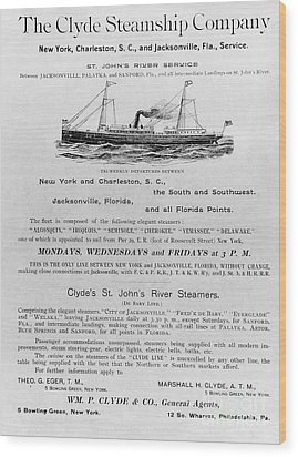 Advertisement: Steamship Wood Print by Granger